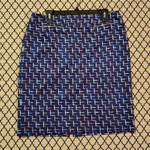 Alex Marie Size 12 geometric print skirt